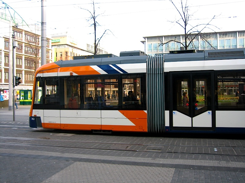 The trams run on time in Mannheim