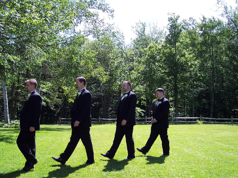 The Groomsmen. I'm out of step, not Chris.